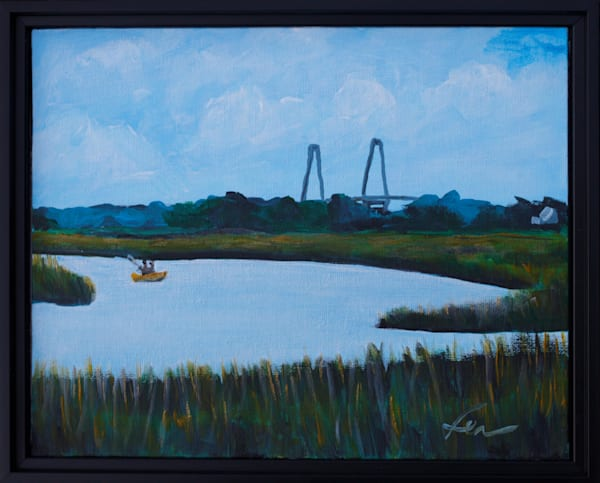 Kayaking at Shem Creek | acrylic on canvas board