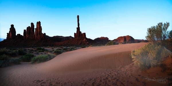 First Light on the Totems--Monument Valley