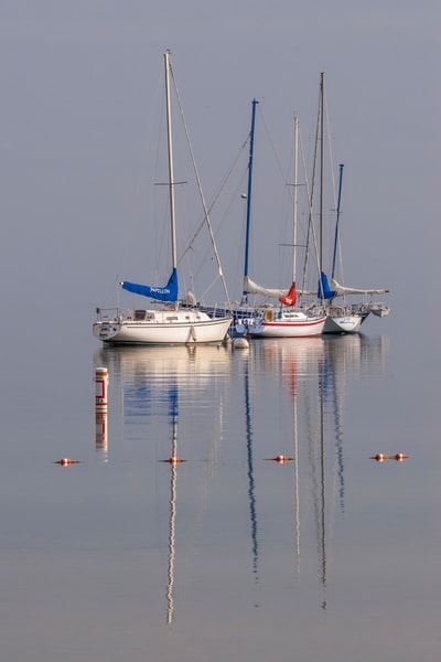 Foggy Morning Sailboats | Jim Parkin Fine Art Photography