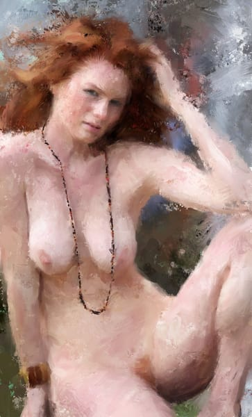 Ginger With Necklace by Eric Wallis