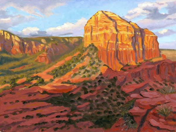 Courthouse Butte Twilight   Gallery Wrapped Canvas Print | Simon Fine Art