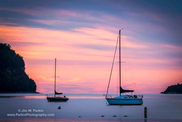 Sailboats in Ephraim Harbor