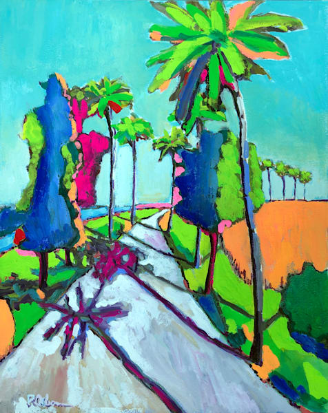 Tropical Trail | Fine Art Painting Print by Rick Osborn