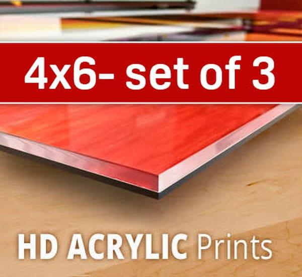 4X6 HD Acrylic Sample Pack (three 4x6's)