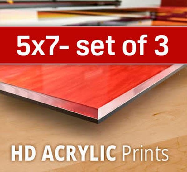5X7 HD Acrylic Sample Pack (three 5x7's)
