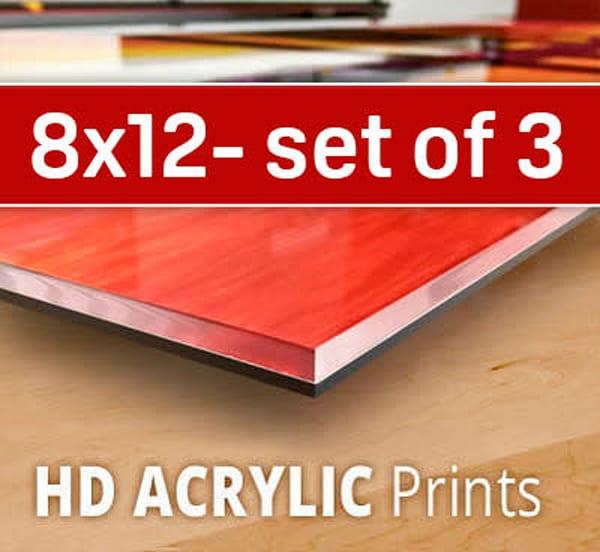 8X12 HD Acrylic Sample Pack (three 8x12's)