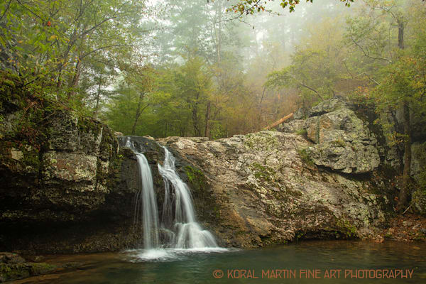 Lake Catherine Waterfall Foggy 0180 |  Photography | Koral Martin Fine Art Photography