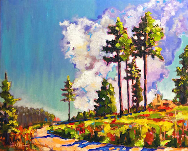 Pine Trees, Trail, Big Sky | Fine Art Oil Painting by Rick Osborn Artist