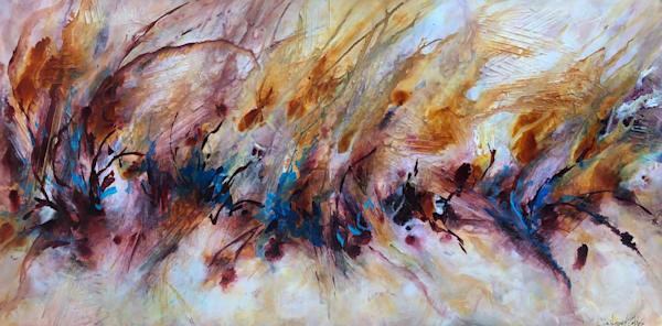 Rush...an original acrylic on panel by Kim Howes Zabbia