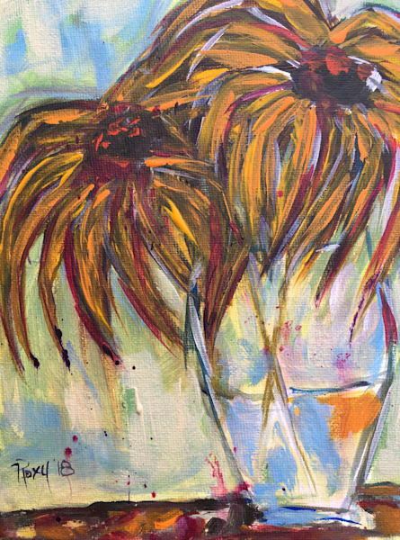 Abstract wild Sunflowers