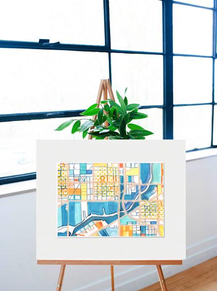 Original Art by Carland Cartography - Neighborhood Chicago Map– Abstract Wall Art of Pilsen. City Neighborhood Map | Modern City Map | Abstract Office Décor | Modern Map Art
