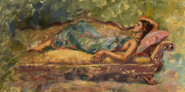 Falling Away Study Original Oil Painting