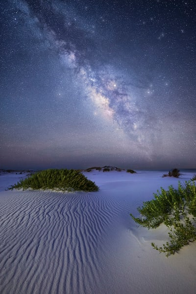 Beach under the Milky Way | Navarre Beach, Gulf Islands National Seashore, Florida  | Fine Art Prints on Canvas, Paper, Metal, & More | Waldorff Photography