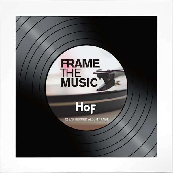 White Record Album Frame