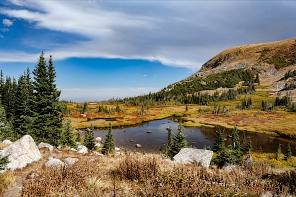 Blue Lakes Trail Lake Photograph 1966 | Colorado Photography | Koral Martin Fine Art Photography