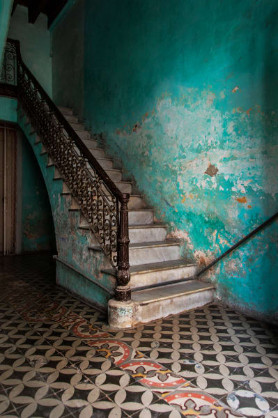 Havana Stairway: Photographs of Cuba by Photographer Shane O'Donnell prints and collections available at the shane gallery