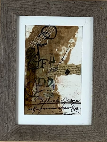 Mixed media, hand painted papers, Asemic writing, art