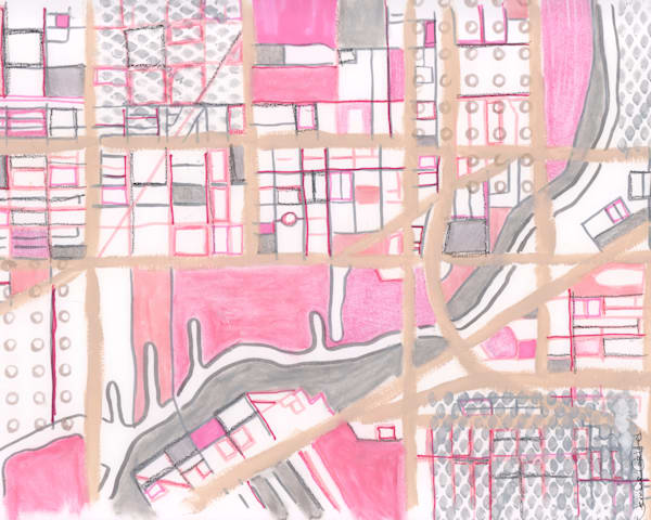 Chicago City Neighborhood Map – Abstract Map Print of Pilsen Neighborhood -  Purchase Neighborhood Map Print | City Neighborhood Art | City Neighborhood Print |Modern Map Art | Modern City Print by Carland Cartography