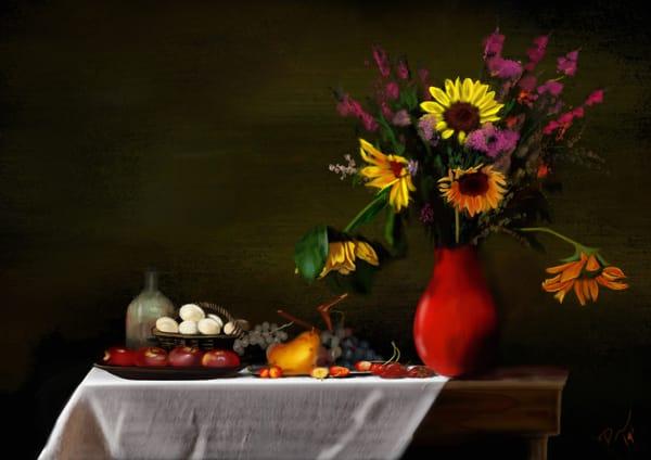 Sunflower And Apples  Art | Dave Fox Studios