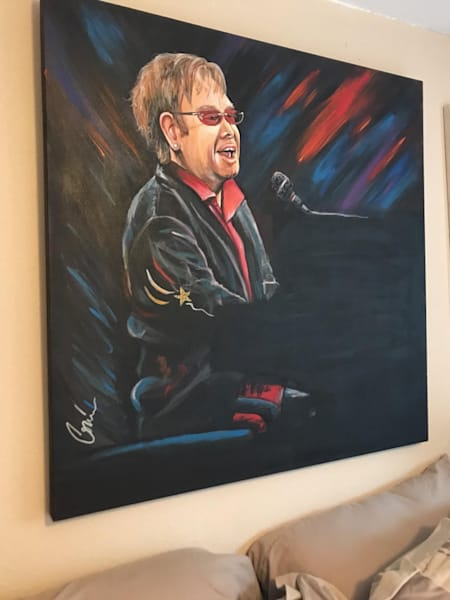 Rocket Man Original Art Painting