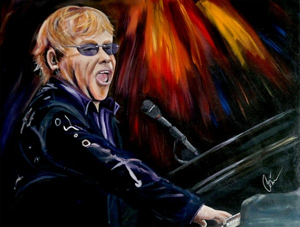 Piano Man Elton John Original Art Painting