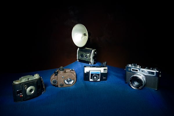 A Fine Art Photograph of Old Compact Cameras by Michael Pucciarelli