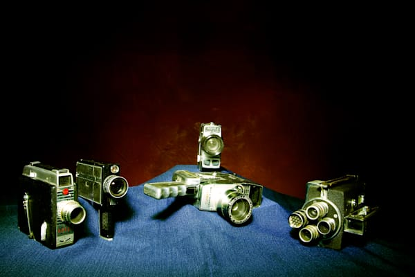 A Fine Art Photograph of Old Fashion Video Recorders by Michael Pucciarelli