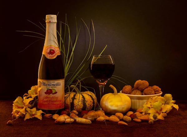 A Fine Art Photograph of Wine Products and Fruit by Michael Pucciarelli