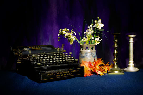A Fine Art Photograph of an Old Fashion Typewriter by Michael Pucciarelli