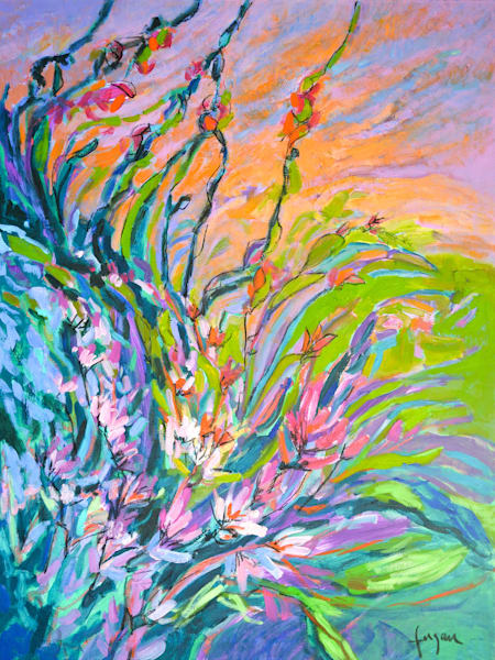 Abstract Floral Radiance by Dorothy Fagan