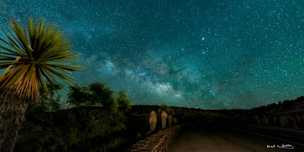 TX, Texas, alpine, big-band, park, milky-way, stars, cactus, road, highway, art