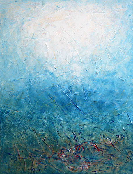 Blue Supreme large abstract painting
