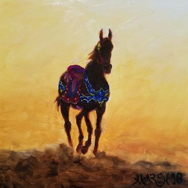 Carousel Horse Silhouette Fine Art Prints