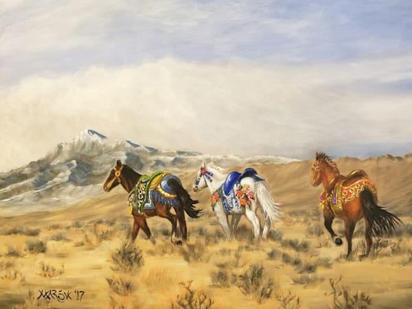 Carousel Mustangs Fine Art Prints