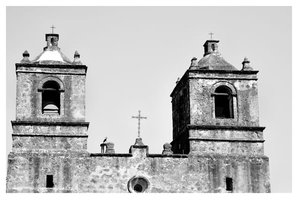 Mission Concepción in San Antonio Texas | Black and White Photographs | Nathan Larson