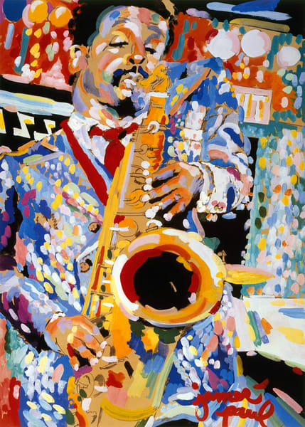 Jazz I By James Paul Brown Art | Artiste Winery & Tasting Studio