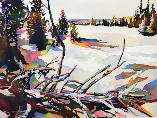Beloved Yellowstone Fine Art Painting.  Shop Prints/ Patrice Cameron Art