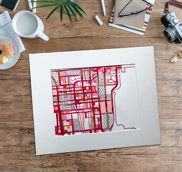 Original Art by Carland Cartography - Chicago City Map– City Neighborhood Map | Neighborhood Map Art | Chicago Neighborhood Art | Modern Wall Art