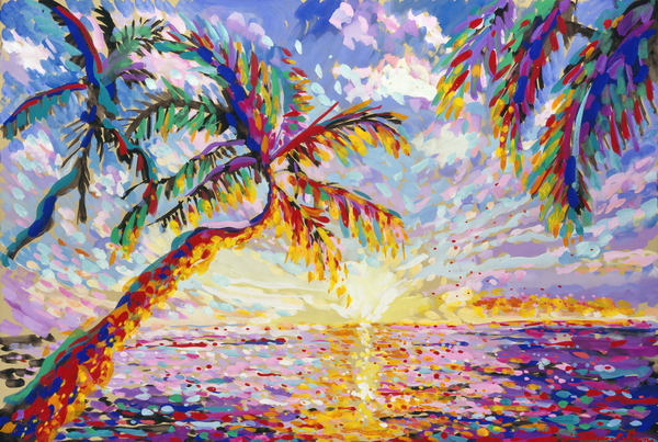 Island Sunset By James Paul Brown Art | Artiste Winery & Tasting Studio