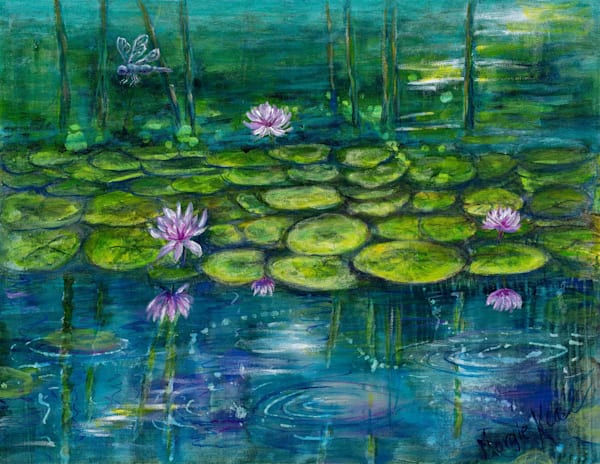 Dragonfly Lilly Pond