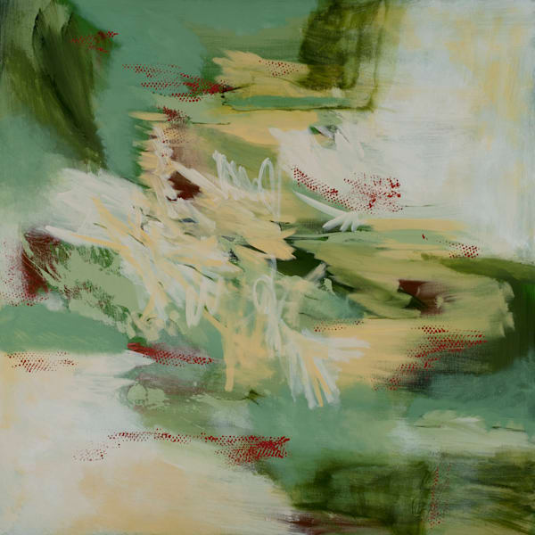 Resonance abstract waterscape painting by Jana Kappeler