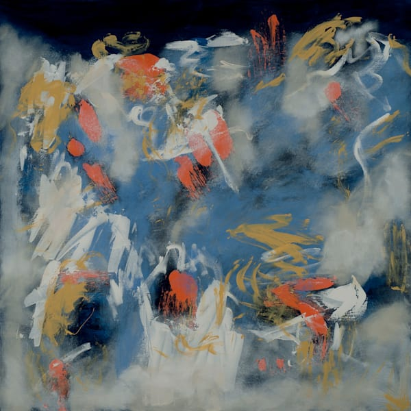Frozen Fire contemporary abstract artwork with swirling gestures by Jana Kappeler.
