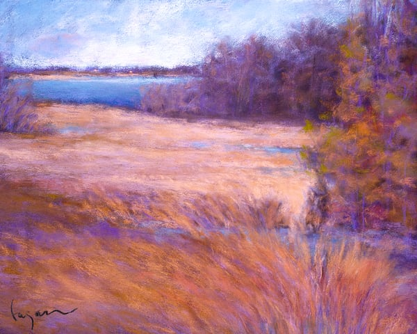 Coastal Marsh Landscape Painting by Dorothy Fagan Morning on the York