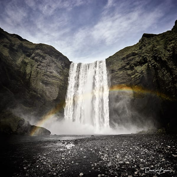 Skogafoss, Iceland Photography Art by David Beavis Fine Art