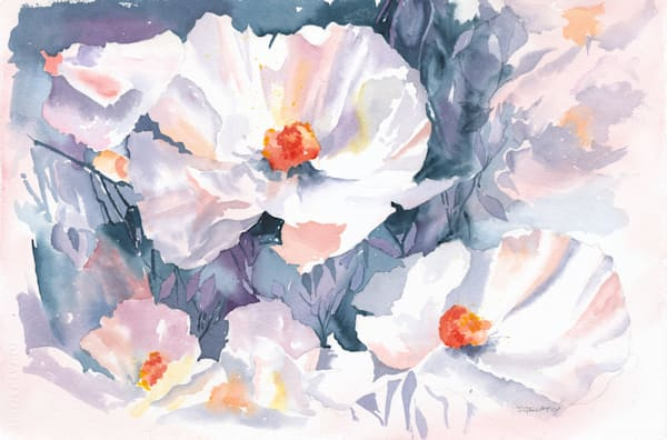 Jan Gellatly - Bluesy Poppies