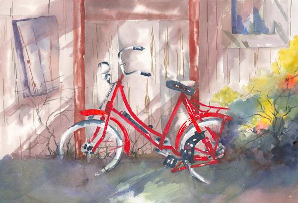 Jan Gellatly - Red Bicycle