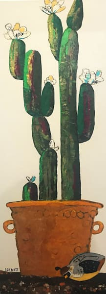 Bloomer by Pam Corbett  |  Cactus  | Paper collage
