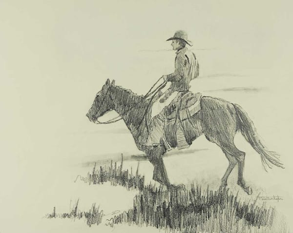 "Raymond Wattenhofer Art Drawing ""Tall Grass""."