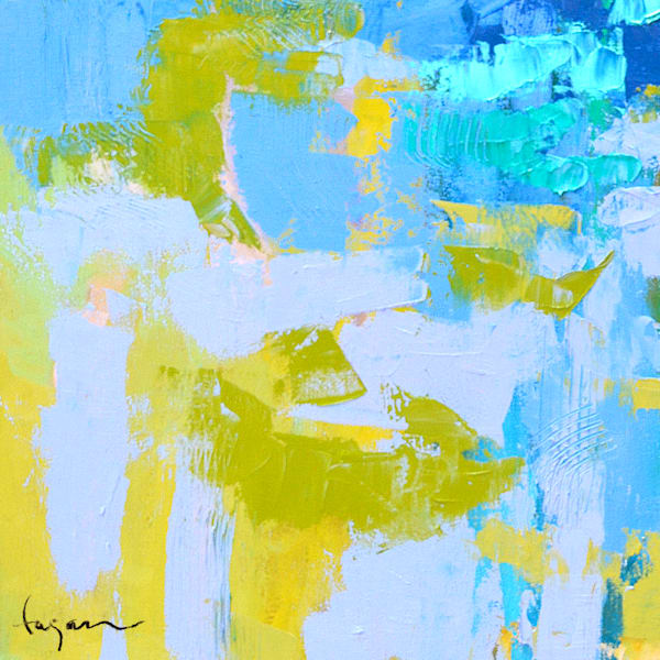 Abstract Water Painting, Canvas Print by Dorothy Fagan