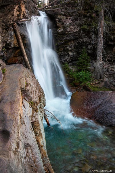Glacier National Park waterfall | Baring Falls fine art prints by Thom Schoeller
